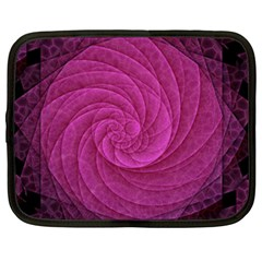 Purple Background Scrapbooking Abstract Netbook Case (Large)