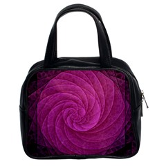 Purple Background Scrapbooking Abstract Classic Handbags (2 Sides)