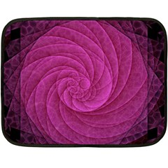 Purple Background Scrapbooking Abstract Double Sided Fleece Blanket (mini)