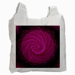 Purple Background Scrapbooking Abstract Recycle Bag (One Side)