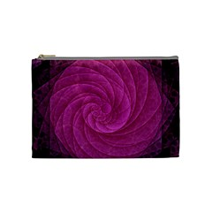 Purple Background Scrapbooking Abstract Cosmetic Bag (medium)