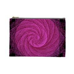 Purple Background Scrapbooking Abstract Cosmetic Bag (large)