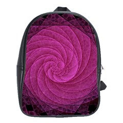 Purple Background Scrapbooking Abstract School Bags(large)
