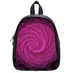 Purple Background Scrapbooking Abstract School Bags (small)