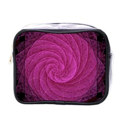 Purple Background Scrapbooking Abstract Mini Toiletries Bags