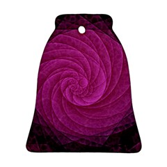 Purple Background Scrapbooking Abstract Ornament (bell)