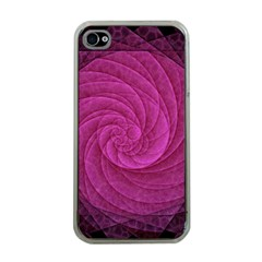 Purple Background Scrapbooking Abstract Apple iPhone 4 Case (Clear)