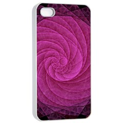 Purple Background Scrapbooking Abstract Apple iPhone 4/4s Seamless Case (White)
