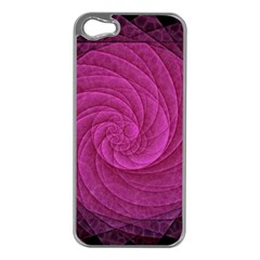 Purple Background Scrapbooking Abstract Apple Iphone 5 Case (silver)