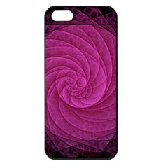 Purple Background Scrapbooking Abstract Apple Iphone 5 Seamless Case (black)