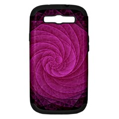 Purple Background Scrapbooking Abstract Samsung Galaxy S Iii Hardshell Case (pc+silicone)