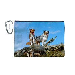 mini Australian Shepherd group Canvas Cosmetic Bag (M)