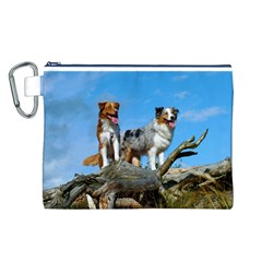 mini Australian Shepherd group Canvas Cosmetic Bag (L)