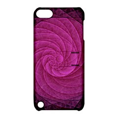 Purple Background Scrapbooking Abstract Apple Ipod Touch 5 Hardshell Case With Stand