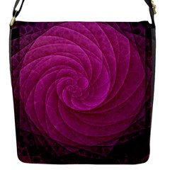 Purple Background Scrapbooking Abstract Flap Messenger Bag (s)