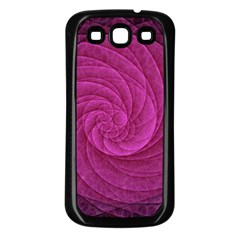 Purple Background Scrapbooking Abstract Samsung Galaxy S3 Back Case (Black)