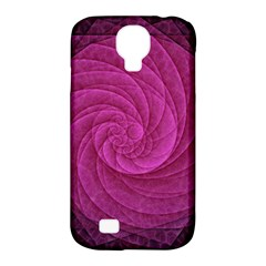 Purple Background Scrapbooking Abstract Samsung Galaxy S4 Classic Hardshell Case (pc+silicone)