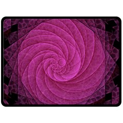 Purple Background Scrapbooking Abstract Double Sided Fleece Blanket (Large)