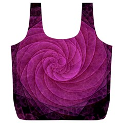 Purple Background Scrapbooking Abstract Full Print Recycle Bags (l)