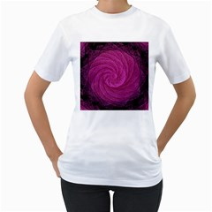 Purple Background Scrapbooking Abstract Women s T Shirt (white)