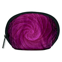 Purple Background Scrapbooking Abstract Accessory Pouches (Medium)