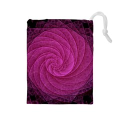 Purple Background Scrapbooking Abstract Drawstring Pouches (large)