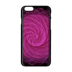 Purple Background Scrapbooking Abstract Apple Iphone 6/6s Black Enamel Case