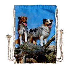 mini Australian Shepherd group Drawstring Bag (Large)