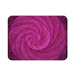 Purple Background Scrapbooking Abstract Double Sided Flano Blanket (Mini)