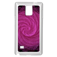 Purple Background Scrapbooking Abstract Samsung Galaxy Note 4 Case (White)