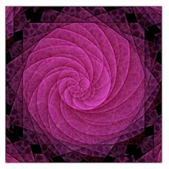 Purple Background Scrapbooking Abstract Large Satin Scarf (Square)