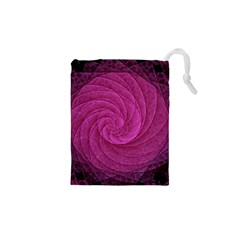 Purple Background Scrapbooking Abstract Drawstring Pouches (xs)
