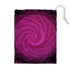 Purple Background Scrapbooking Abstract Drawstring Pouches (Extra Large)