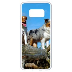 mini Australian Shepherd group Samsung Galaxy S8 White Seamless Case