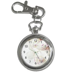 Orchids Flowers White Background Key Chain Watches
