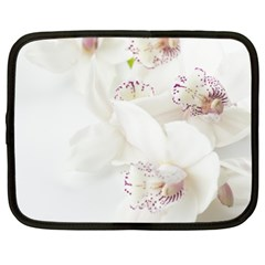 Orchids Flowers White Background Netbook Case (xl)