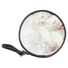 Orchids Flowers White Background Classic 20 Cd Wallets