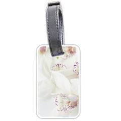 Orchids Flowers White Background Luggage Tags (Two Sides)