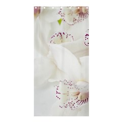 Orchids Flowers White Background Shower Curtain 36  x 72  (Stall)