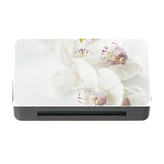 Orchids Flowers White Background Memory Card Reader with CF