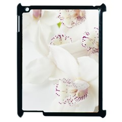 Orchids Flowers White Background Apple iPad 2 Case (Black)
