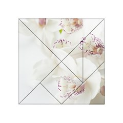 Orchids Flowers White Background Acrylic Tangram Puzzle (4  X 4 )