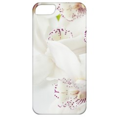 Orchids Flowers White Background Apple iPhone 5 Classic Hardshell Case