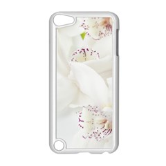 Orchids Flowers White Background Apple iPod Touch 5 Case (White)