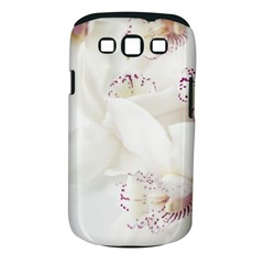 Orchids Flowers White Background Samsung Galaxy S III Classic Hardshell Case (PC+Silicone)