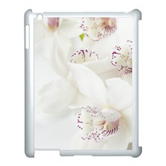 Orchids Flowers White Background Apple iPad 3/4 Case (White)