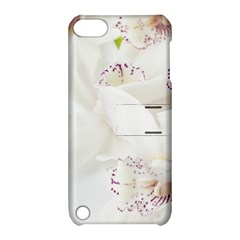 Orchids Flowers White Background Apple iPod Touch 5 Hardshell Case with Stand