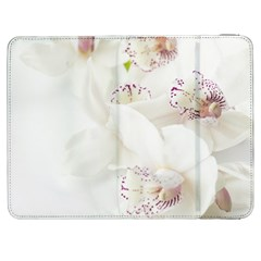 Orchids Flowers White Background Samsung Galaxy Tab 7  P1000 Flip Case