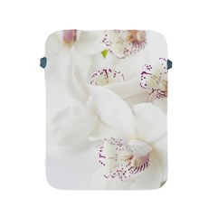 Orchids Flowers White Background Apple Ipad 2/3/4 Protective Soft Cases