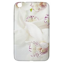 Orchids Flowers White Background Samsung Galaxy Tab 3 (8 ) T3100 Hardshell Case
